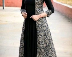 Designer Party Wear Rayon Long Kurtis