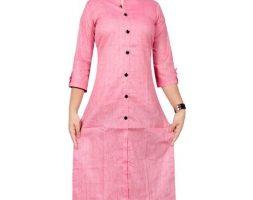 Kashvi Attractive Solid Cotton Women's Kurtis Vol 3