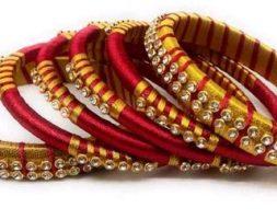 Trendy Silk Thread Bangles Sets vol 9
