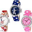 Women's Leather Analog Watches Combo Vol 2