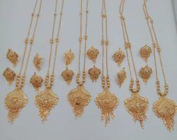 Traditional Festival Wear Gold Plated Stylies Necklace Set for Women