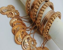 Traditional Gold Plated Golden Latkan Bangles Set for Girls and Women