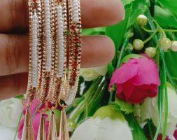 Shiny Glossy Metal Bangles with Latkan Set for Women & Girls