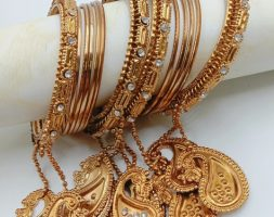 Fashion Bangles Designer Gold Plated Bracelet Bangles Set of for Girls and Women