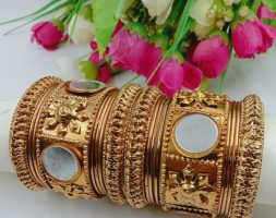Fashion Bangles Traditional Gold Plated Bracelet Bangles Set of for Girls and Women