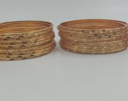 Gold Plated Wedding Jewellery Bangles Set of 12 For Women