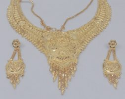 Gold plated Wedding Jewellery Choker Necklace Set for Women