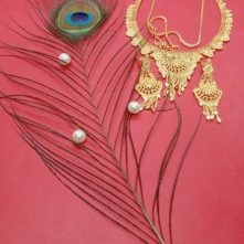Traditional Jewellery Gold Plated with Diamond Jewellery Set for Women