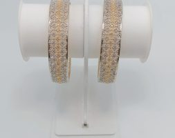 AD Studded Gold Plated Signature Bangles for Women & Girls