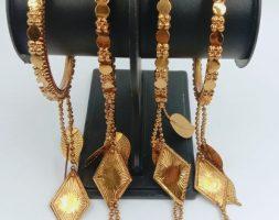 Vintage Antique Oxidized Traditional Crystal Jhumki Jhumka Tassel Latkan Bracelet Bangle