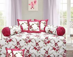 latest Diwan Sets Printed Pure Cotton 90 X 59 Diwan Set