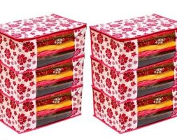 Printed Saree Covers ( Pack Of 6 )