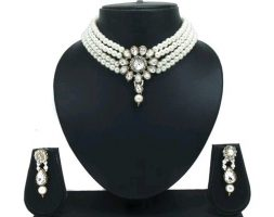 Women's Alloy Silver Plated Jewellery Set