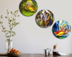 Wooden Wall Plate (Pack Of 3)