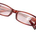 Brown Rectangular Frame Reading Glasses