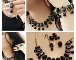 Women's Stone Work Jewellery Set