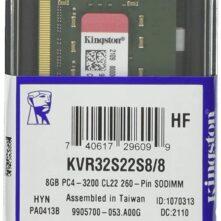 Kingston RAM KVR32S22S8/8 8GB DDR4 RAM Laptop SODIMM
